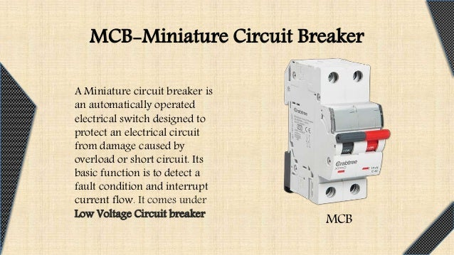 Mcb and earth leakage circuit circuit breaker 5 asfbconference2016 Choice Image