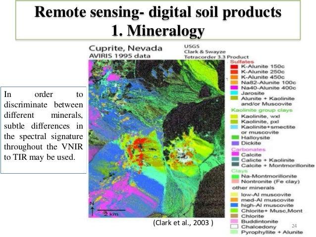 Soil separability through remote sensing for land evaluation