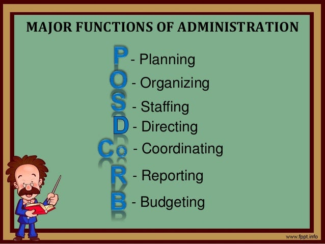 functions of education administration As shown in the above diagram, the director of primary education heads the   one of the chief education officers takes over administrative duties at the office.