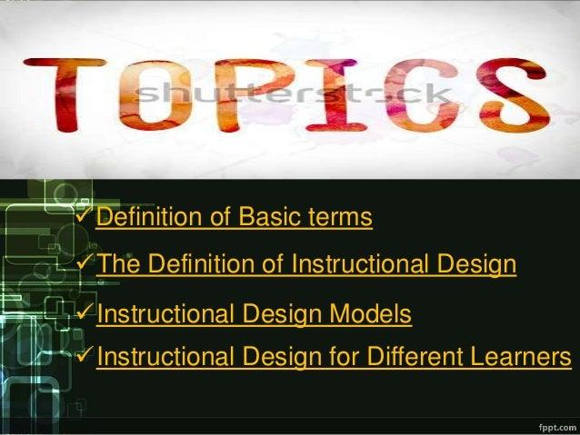 instructional design model definition