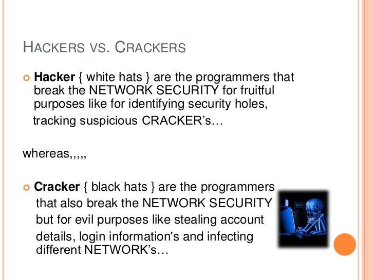 Hackers vs crackers essay