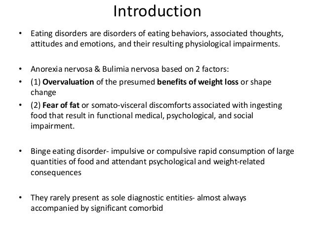 conclude research paper eating disorders Eating disorders dissociative conclusion matthew d jacofsky and psychological factors that contribute to anxiety disorders this broad research base has.
