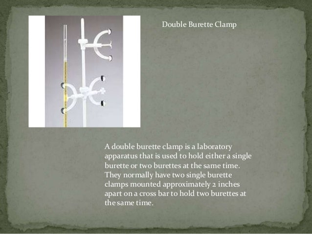 16 Double Burette Clamp A Is Laboratory Apparatus