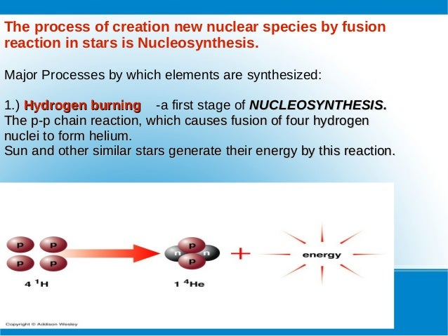 stellar nucleosynthesis equations