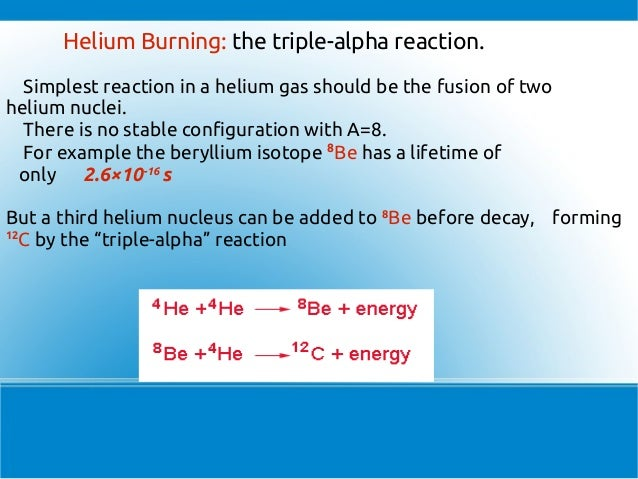 helium fusion