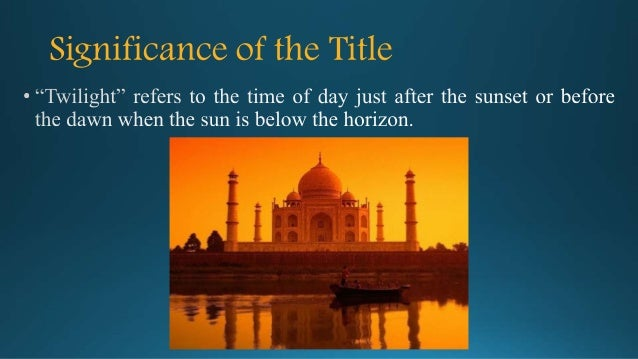 twilight in delhi Ahmed ali (1 july 1910 in delhi – 14 january 1994 in karachi) (urdu: احمد علی ) was a pakistani novelist, poet, critic, translator, diplomat and scholarhis writings include twilight in.