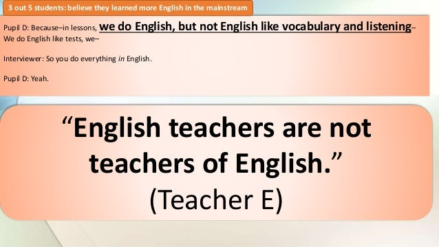 English teachers are (not) teachers of English