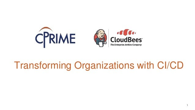 1 + Transforming Organizations with CI/CD Insert Names