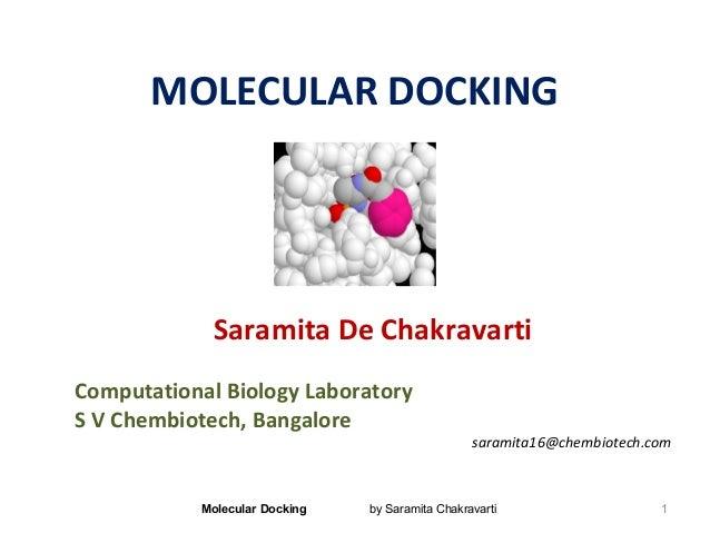 MOLECULAR DOCKINGSaramita De ChakravartiComputational Biology LaboratoryS V Chembiotech, Bangaloresaramita16@chembiotech.c...