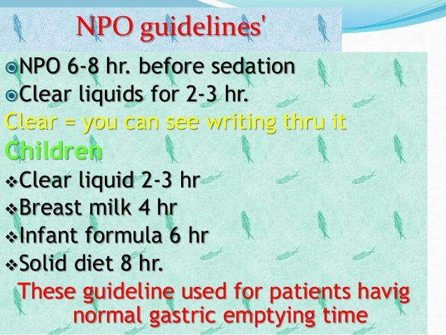 Normal gastric emptying time children