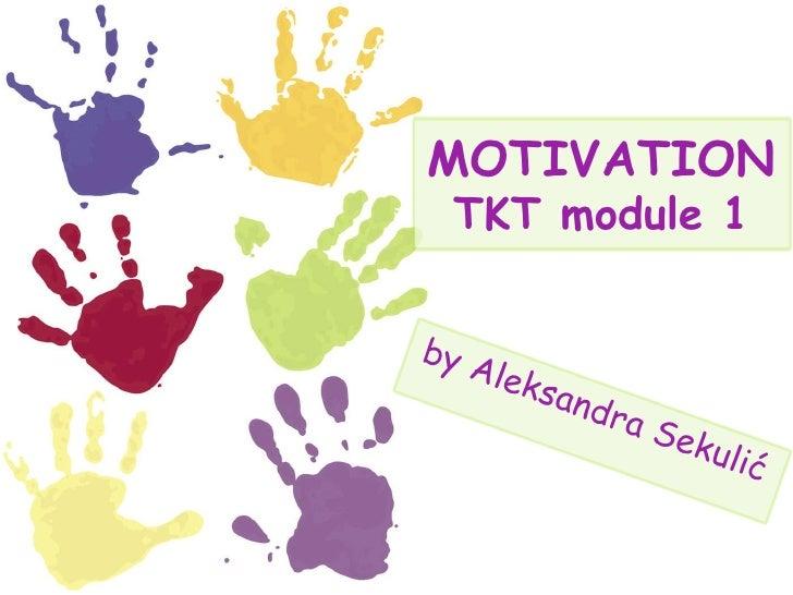 MOTIVATION TKT module 1 by Aleksandra Sekulić