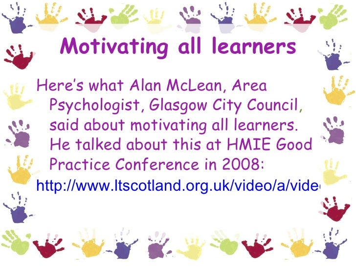 motivating every learner mclean alan