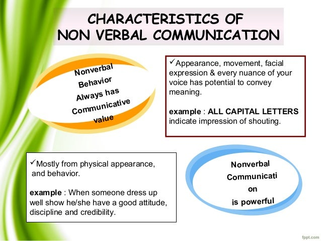 physical appearance in non verbal communication Non-verbal signals are used in the process of communication  can be affected  by colors, the physical appearance being also the reason for different reactions,.