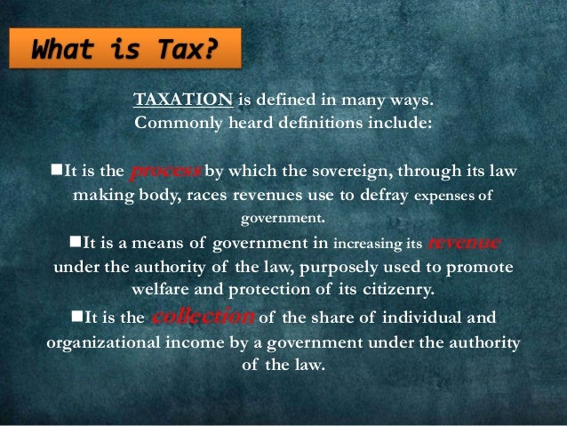 Taxation in the Philippines Slide 2