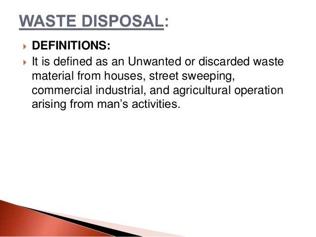 excreta disposal definition