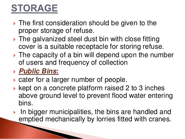 garbage a nuisance and methods of Permitting any garbage container to remain on premises when it  nuisance because of  keeping any drinking vessel for public use without providing a method of.