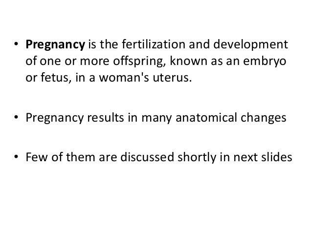 Anatomical changes in Pregnancy Slide 3