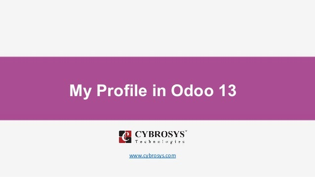 My Profile in Odoo 13 www.cybrosys.com