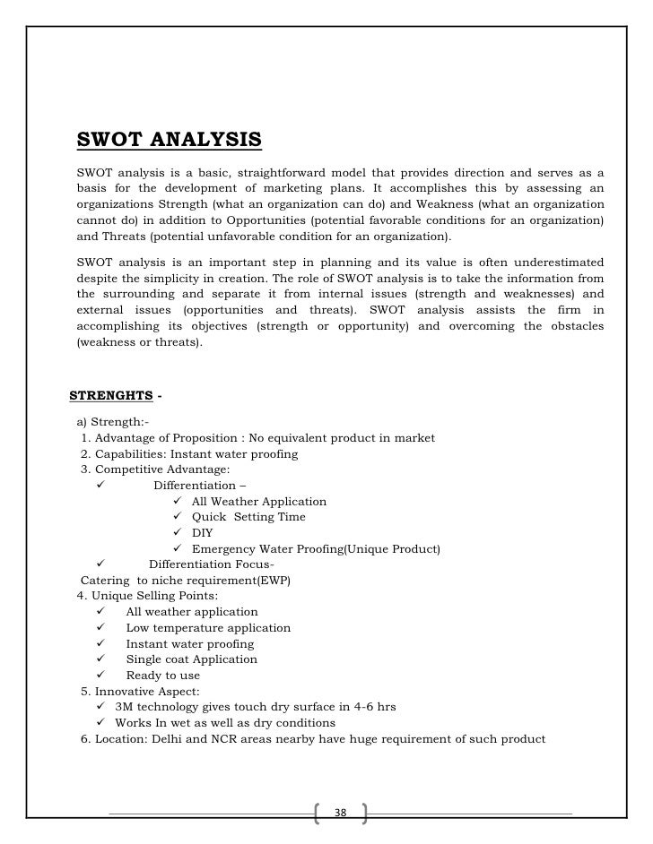 3m swot Swot analysis of the company is presented as follow: the strengths and weaknesses concern the internal environment of 3m company, whereas the opportunities and threats are linked with the external environment of the company this swot analysis is presented in order to assess the overall situation of 3m company.