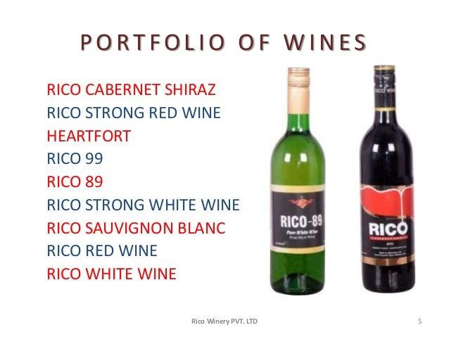 Ltd 4 5 Portfolio Of Wines Rico Cabernet Shiraz Rico Strong
