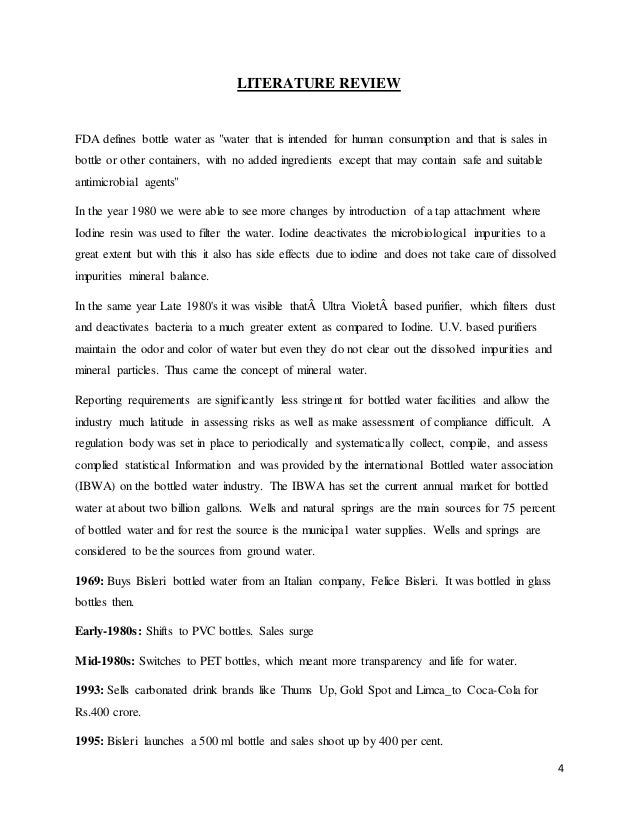 review of literature of bisleri project The loeys-dietz syndrome: an update for the clinician article literature review  project dilatation of the.