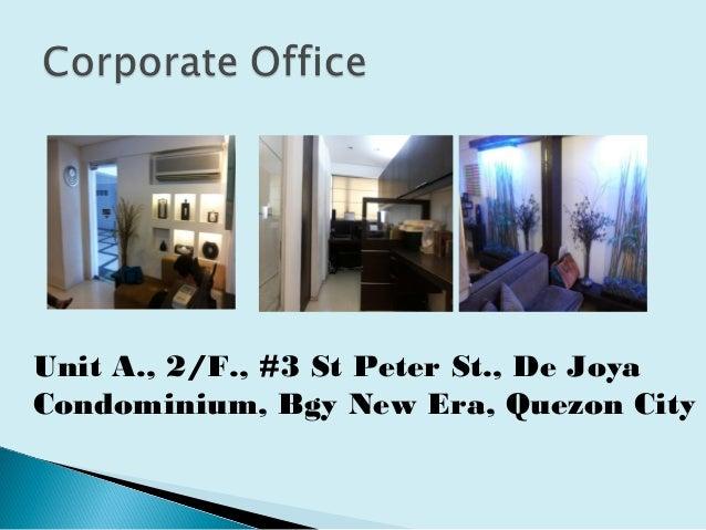 Unit A., 2/F., #3 St Peter St., De Joya Condominium, Bgy New Era, Quezon City