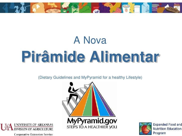 A NovaPirâmide Alimentar  (Dietary Guidelines and MyPyramid for a healthy Lifestyle)