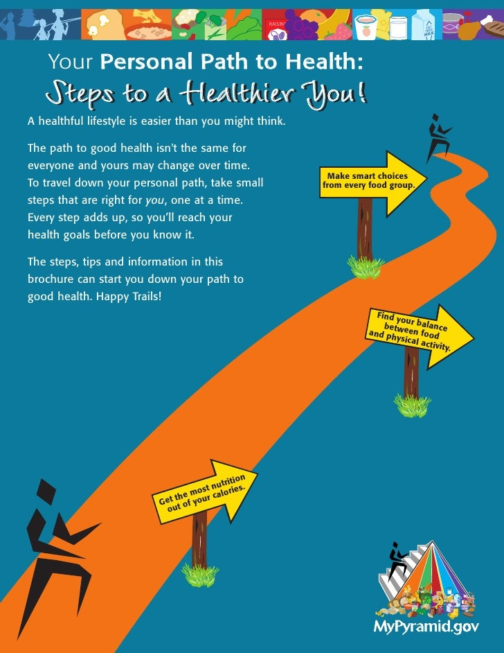 Your Personal Path to Health:    Steps to a Healthier You! A healthful lifestyle is easier than you might think.  The path...