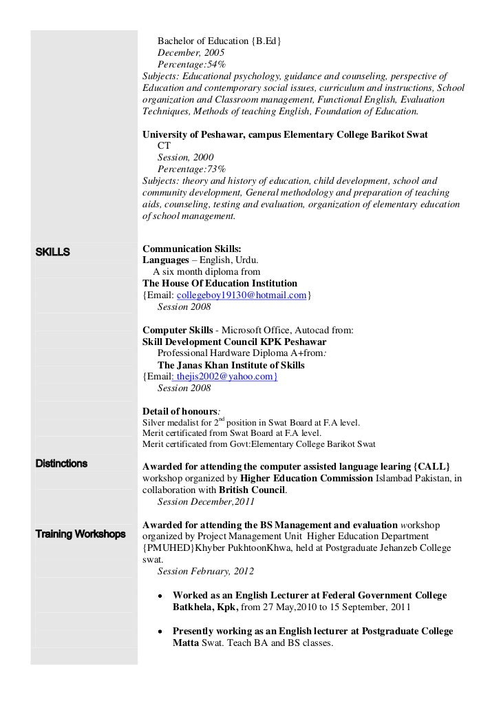 Sample Resume With Foreign Language Skills