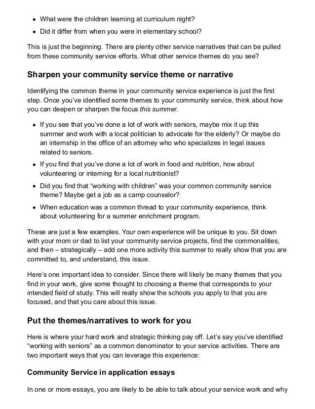 community service experience essay