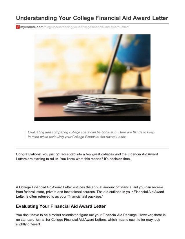 understanding your college financial aid award letter myredkitecom blogunderstanding your