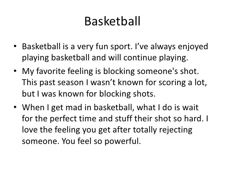 5 paragraph essay on basketball