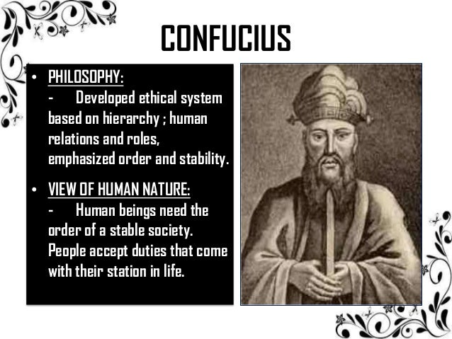 an overview of confucianism a philosophical system created by confucius Confucianism is commonly defined as system of  we have created confucius chat, a philosophical conversational  we provide an overview of the prototype.