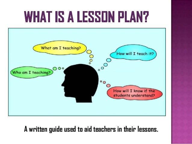 how to write learning objectives for a lesson plan