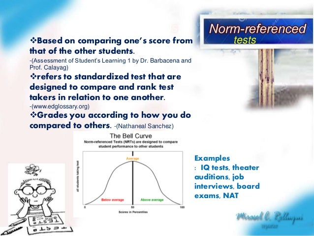 norm and criterion referenced assessment comparisons Norm-referenced and criterion-referenced tests between norm-referenced and criterion-referenced is an example of a norm-referenced test that also can be used.