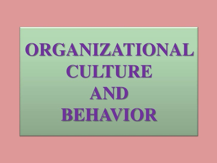 culture organizational behavior Changing a culture is a large-scale undertaking, and eventually all of the organizational tools for changing minds will need to be put in play however the order in which they deployed has a.