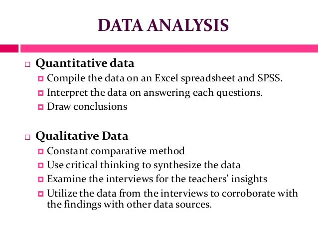 Example of data analysis in research methodology