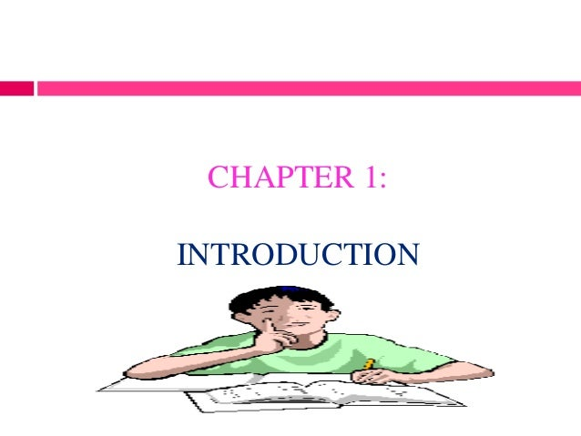 CHAPTER 1:INTRODUCTION