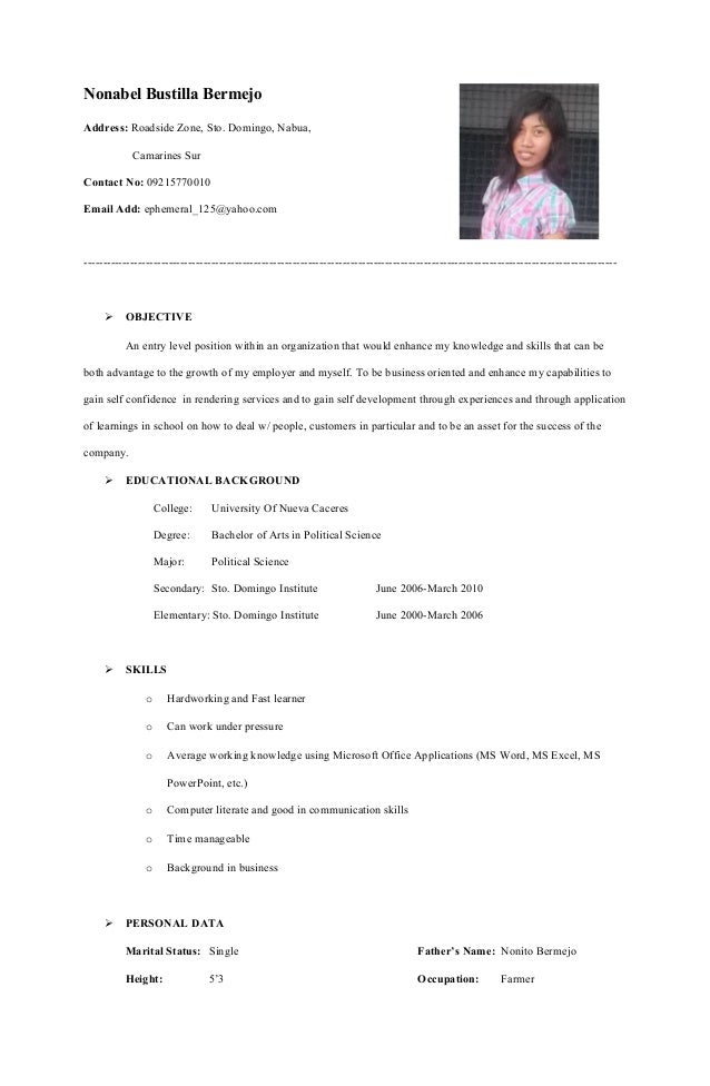 Improve my resume