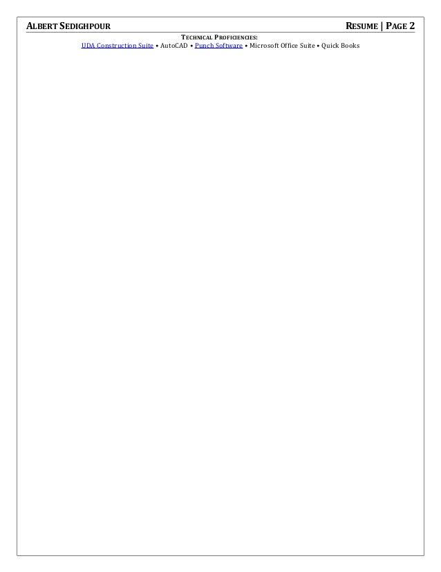 my resume Professional Work Resume 2 albert sedighpour resume