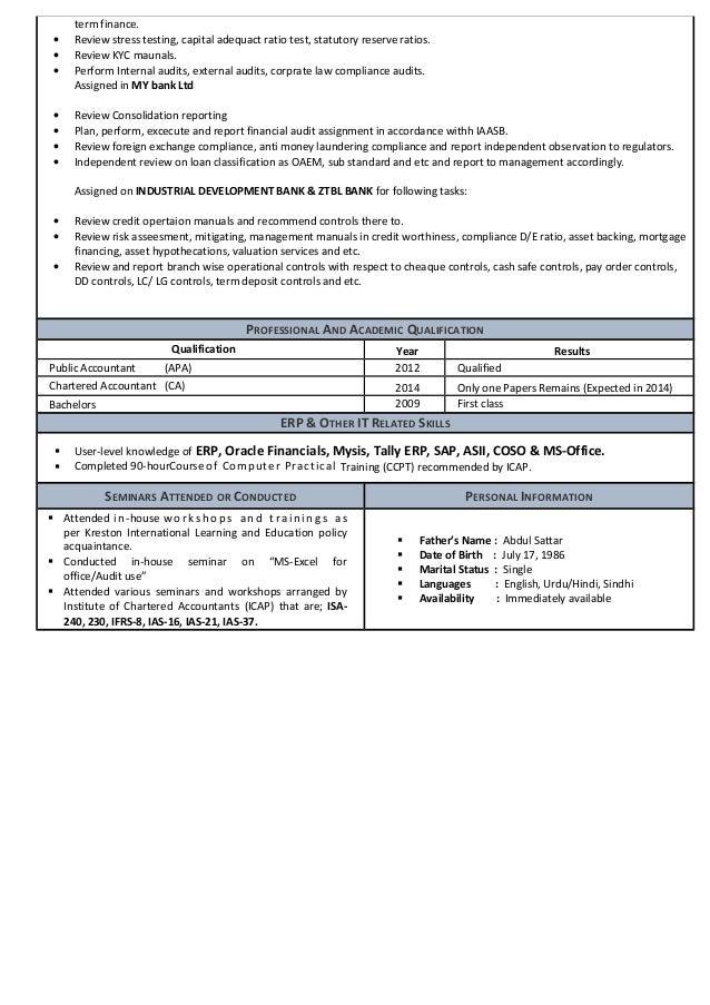 My resume finance finance analyst