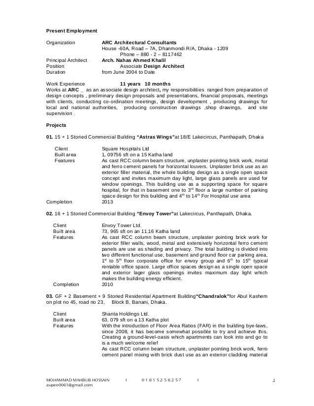 resume works