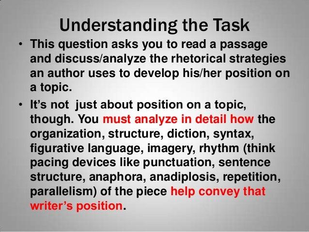 My rhetorical analysis essay helpers mrs. scruggs 2013 Slide 2