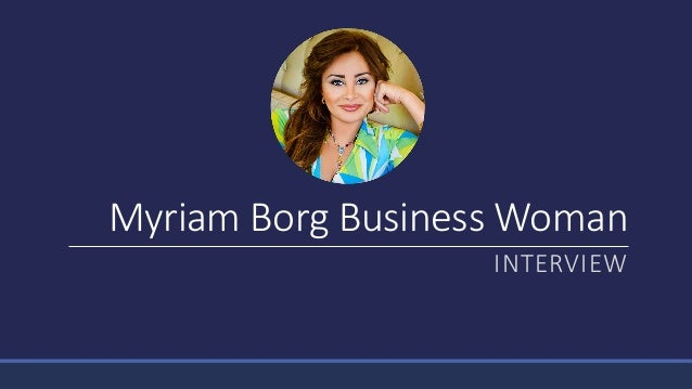 Myriam Borg Business Woman INTERVIEW