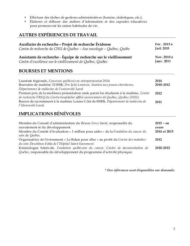 myriam filion curriculum vitae