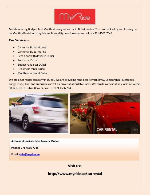 My Ride Car Rental Dubai Airport Rent A Car Dubai Monthly Car Ren
