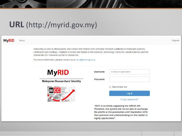 URL (http://myrid.gov.my)