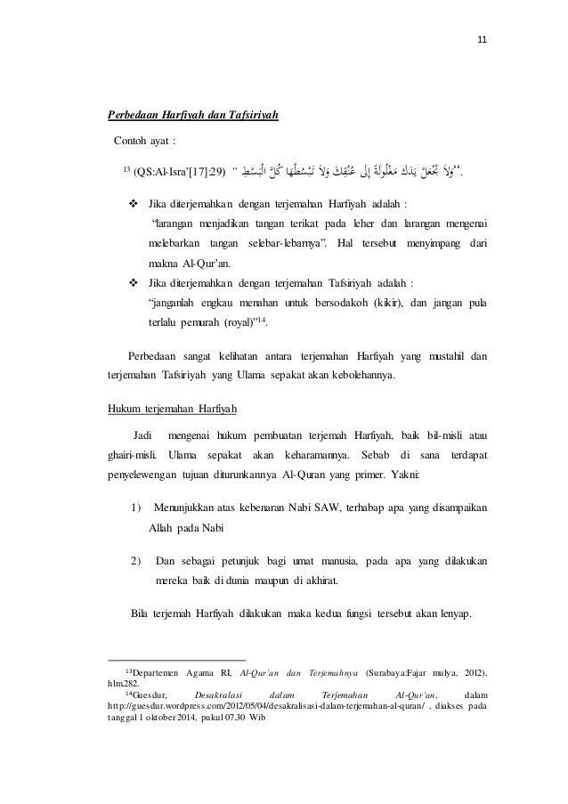 Makalah Pembukuan Dan Penerjemahan Al Qur An