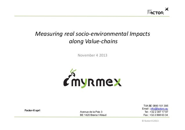 Measuring	   real	   socio-­‐environmental	   Impacts	   	    	   along	   Value-­‐chains	   	    November	   4	   2013	  ...