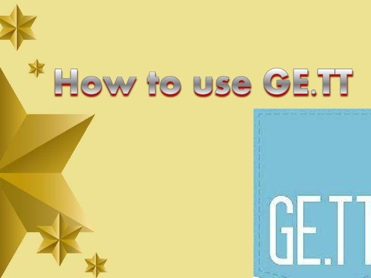 Myrna arcega how to use ge.tt